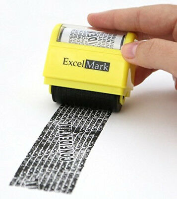 Identity Theft Protection Roller Stamp Credit Card Protector Postcard Rolling