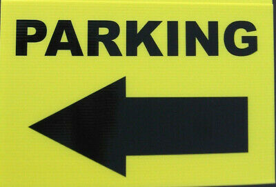 Event Signage - PARKING with Arrow pointing LEFT - Direction signs (24-24)