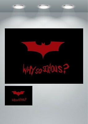 Batman Logo Why So Serious Quote Large Poster Art Print