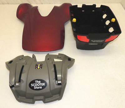 Pride TSS 300 Body Cover Shroud Kit Assembly for Power Wheelchairs (Red)
