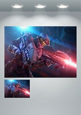 A0 A1 A2 A3 A4 Soldier Warfare Gaming Fantasy Large Poster Wall Art Print