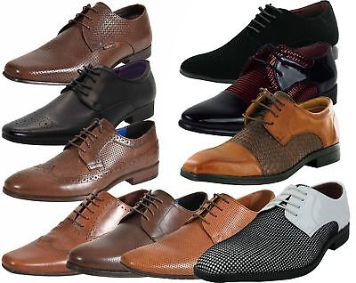 Mens UK Style Leather Lining Formal Office Wedding Smart Work Brogue Shoes