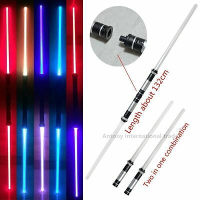 2pcs/lot Star Wars Lightsaber LED 7 colors changing double sword top 2107 toys s