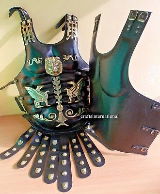 Roman Greek Leather Medieval Muscle Armor Collectible Wearable Heavy Chestplate