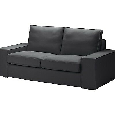 ikea kivik bezug 2er sofa dansbo dunkelgrau grau cover only darkgray eur 89 99. Black Bedroom Furniture Sets. Home Design Ideas