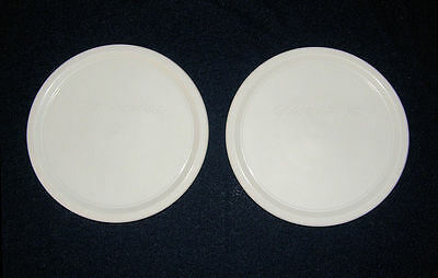 2 NEW Plastic Corning Ware LIDS F-16 PC fits16 Oz French White bowl FREE SHIP