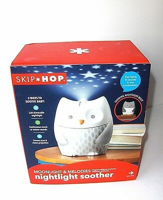Skip*Hop Moonlight & Melodies OWL Nightlight Soother  New In Box w/FREE Shipping