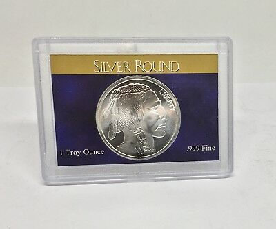 1oz. Uncirculated Buffalo .999 Silver Round With DisplayGift Case