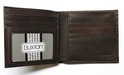 Buxton Cardex Hipster Wallet - Brown- New in Box