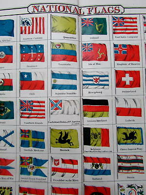 National World-wide Flags Cochin China Siam Rebellion Hawaii 1864 Colton chart