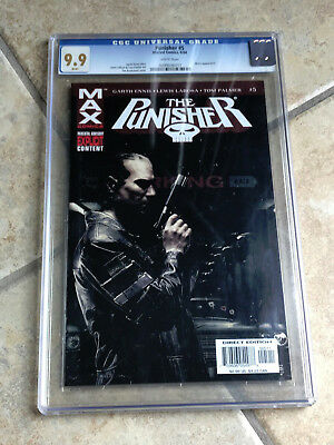 THE PUNISHER MAX #5 cgc 9.9 MINT 2004 Micro Appearance BRADSTREET Cover