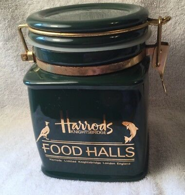 Harrods Knightsbridge Food Halls Green Canister