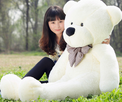 New Soft Lovely Large Teddy bear Plush toys Huge bear toy 6Color 60/80/100/120CM