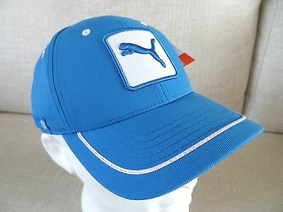 New PUMA Cat Patch Relaxed Fit Brilliant Blue CAP tags One Size Adult