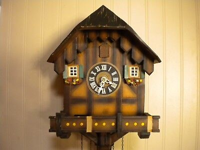 Vintage Black Forest Chalet Musical Cuckoo Clock As Is Needs Work And Parts