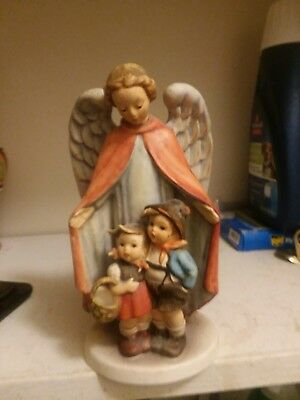 hummel guardian angel with boy and girl