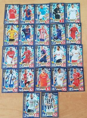 2017 2018 Topps Champions League Match Attax Man of the Match cards