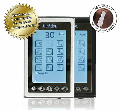 Electronic Pulse Massager Electrode Muscle Stimulator Pain Relief TENS Unit EMS