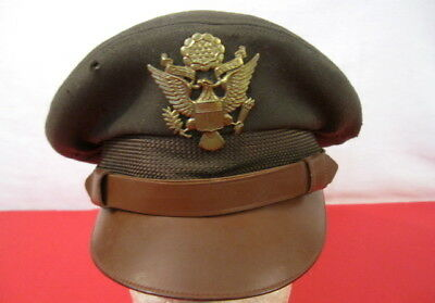 """WWII US Army Air Force AAF Officer's """"Crusher"""" Cap or Hat Size 7 - Original"""