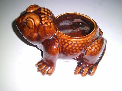 Vintage Frog Planter Jenkins Ceramics California Pottery Pacoima Ca 1950's brown