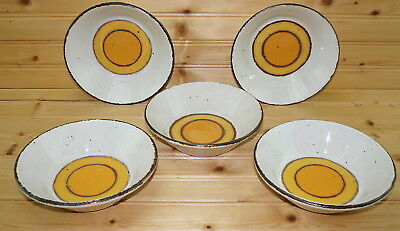 """Midwinter Sun (5) Cereal Bowls, 6 1/2"""""""