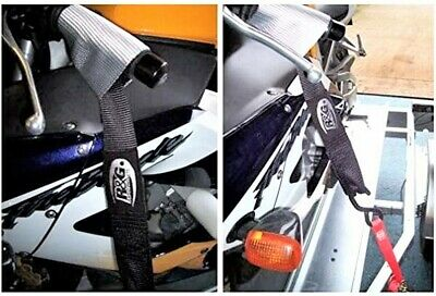 R&G Motorcycle Tie Down System Top Strap & Ratchet Strap Kawasaki ZX10R '04-'05