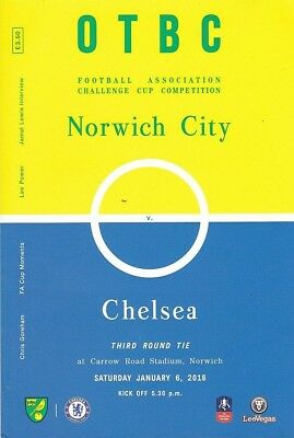 * 2017/18 - NORWICH CITY v CHELSEA (FA CUP - 6th January 2018) *