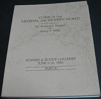 Coins Of The Medieval & Modern World - Ariagno & Wilke Collections 1980 Part 2