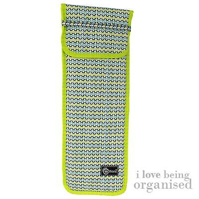 Neon Soft Case for Knitting | Needle Roll-Up | Funky Textile Tools Holder | Crea