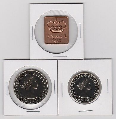 1970 Great Britain - UNC. Proof Coin Set ~ Last Year Minted ~ FREE SHIPPING