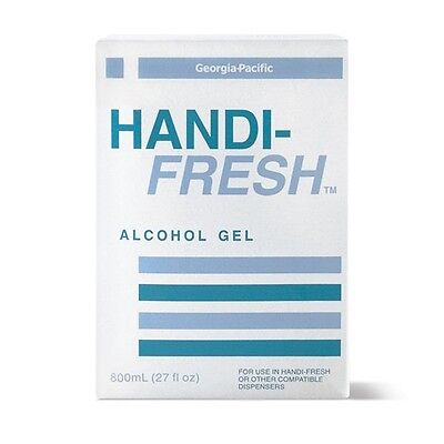 Georgia-Pacific® 48114 Clear 4/800 ml Alcohol Gel No Rinse Sanitizer