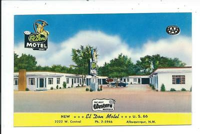 Postcard Post Card Route Rt 66 Albuquerque New Mexico NM N M Motel El Don