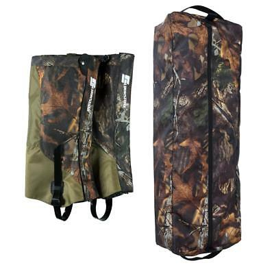 25L Camo Climbing Rope Bag + 2pcs Hiking Waterproof Snow Shoes Gaiters Cover