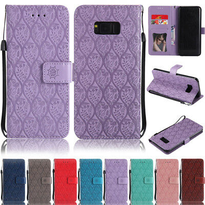 Embossed Wallet Leather Flip Case Cover For Samsung A5 2017 S3 S4 S5 S6 S7 S8 J7