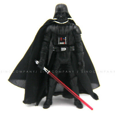 rare Star Wars 2005 Darth Vader 3.75'' Figure & red lightsaber Collect Toy Gift