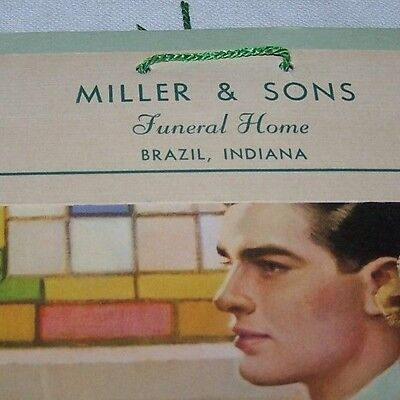 1956 Miller & Sons Funeral Home Calendar-Brazil Indiana-Hanging-Wall-Complete