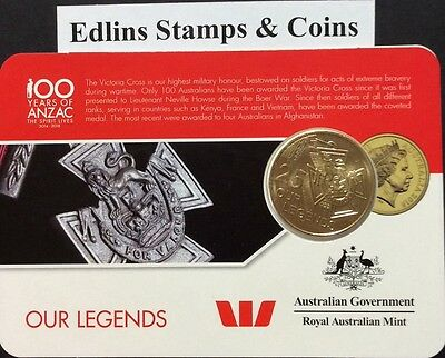 2016 25 cent coin - our legends Victoria cross the first Australian 25 cent coin