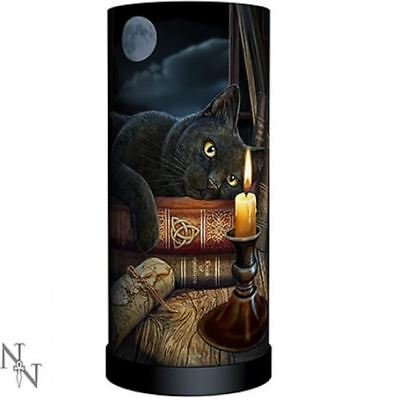 Nemesis Now Lisa Parker Witching Hour Lamp Black Cat Witch