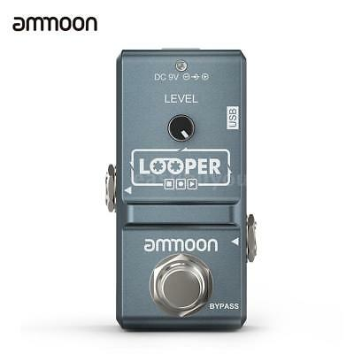 ammoon Nano Loop Electric Guitar Effect Pedal Looper Unlimited Overdubs Portable