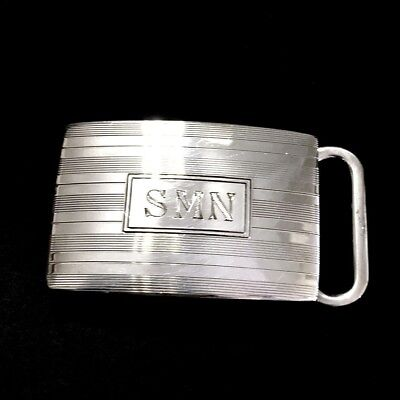 Authentic Tiffany & Co. Sterling Silver 925 Engine-Turned Belt Buckle Vintage