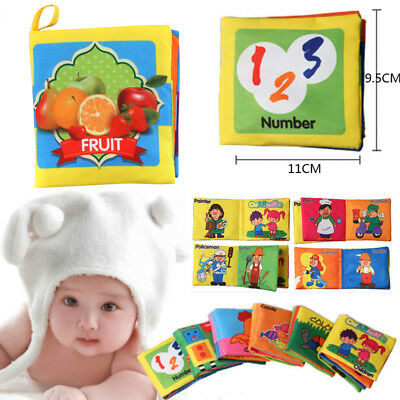 Intelligence development Cloth Bed Cognize Educational Book Toy for Kid Baby New