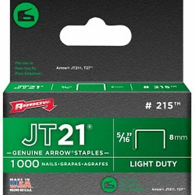 Arrow JT21/T27 Staples 8mm 5/16in (1000) - A215