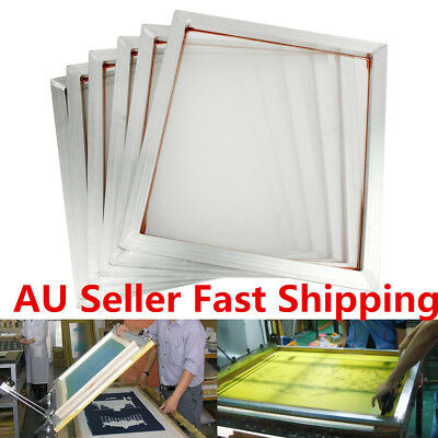 6pcs 50x45cm Screen Frame With 110t Mesh Silk Screen Printing Aluminum Alloy AU