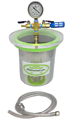 1.0 Gal Stainless Steel (SS)  Vacuum Chamber + W-SlickVacSeal new