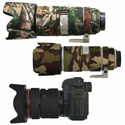 Black Camouflage Rubber Camera Lens Protective Coat Cover Waterproof For Canon