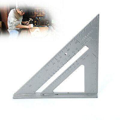 "7""inch Roofing Rafter Speed Square Alloy Angle Guide Tool Ruler Triangle Measure"