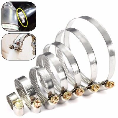 Stainless Steel Hose Clips Pipe Clamps - Choose Size - Jubilee Jcs Type UK