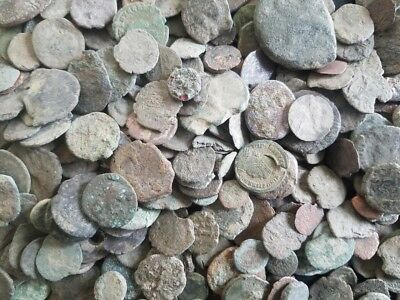 LOT OF 2 - Very Low Grade Junk Ancient Roman Coins / 330 A.D. Constantine