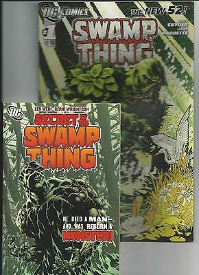 Swamp Thing #1 New 52 1st print+swamp thing digest VF (November 2011, DC)