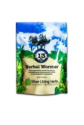 SILVER LINING HERBS #13 Herbal Wormer Maintain System Horse Equine 1/4 Pound bag
